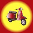 Quadro scooter - vector illustration