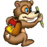 teddy bear 01 pupil poster