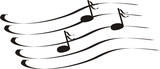 notes a treble clef