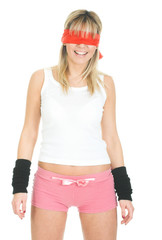 sexy blindfolded woman