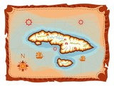 treasure island map poster