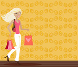 blonde shopper