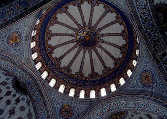 ceiling of turkish mosque