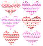 hearts consisting of words poster