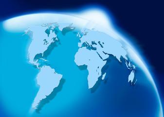 world map horizont