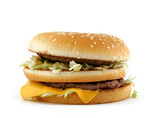 appetizing hamburger poster