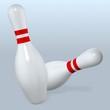 bowling pins fall