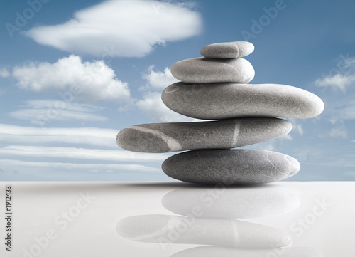 canvas print picture pile of five stones