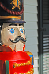 giant size toy wooden soldier