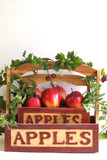 apple basket on white vertical poster