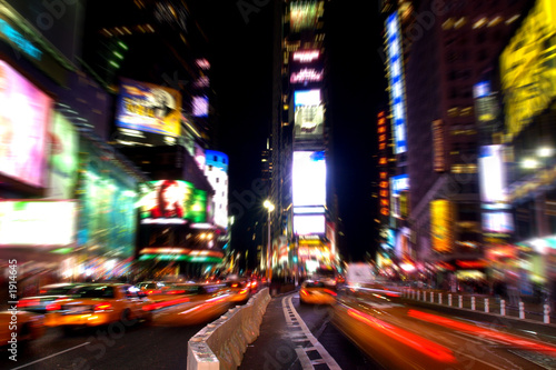 canvas print picture time square at night in manhattan