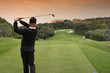 golf swing in valderrama, spain