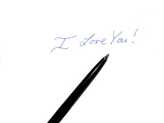 handwritten love message