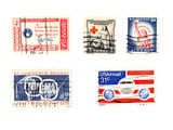 old us postage stamps - collectibles poster