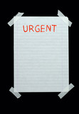 space for urgent notes poster