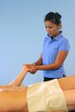 beautiful massage therapist poster
