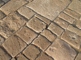 cobblestone pavement poster