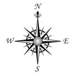 compass wind rose - 4 points