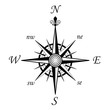 compass wind rose - 8 points