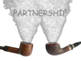 partnership - pipes and smoke poster