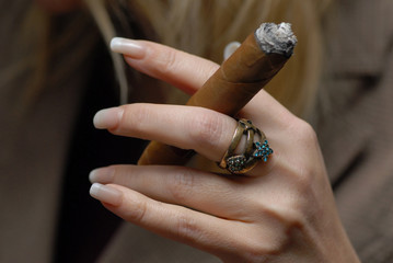 cigar and ring.