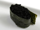 japanese delicacy food! black caviar roll poster