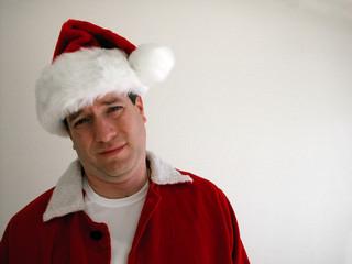 wincing santa