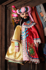 dolls from a puppet theater