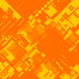 ebb flow orange square random poster