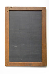 antique chalk slate with grid