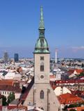 cityscape of bratislava poster