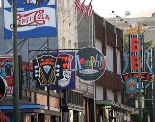 downtown memphis, the blues