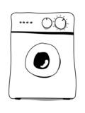 washing machine poster
