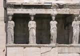 caryatids, erechtheion poster