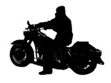 american motorcycle - silhouette