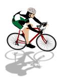 speed biker illustration poster