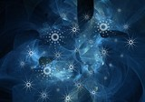 winter misty abstract poster