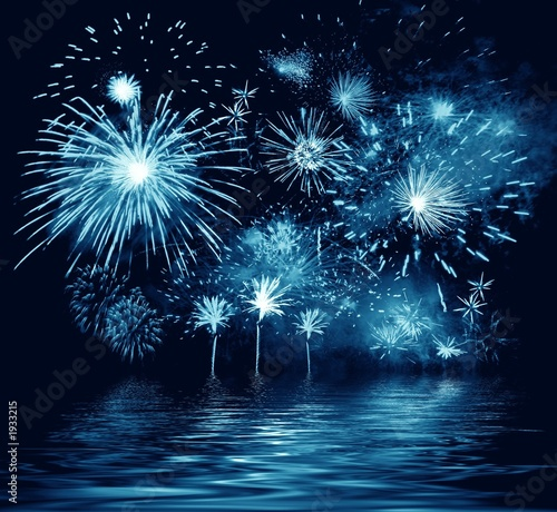 blue firework. illustration