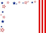 stars and stripes border poster
