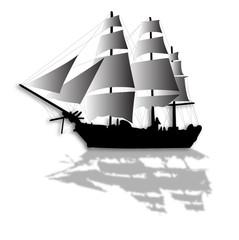 old sailing ship illustration