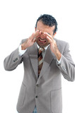 businessman crying poster