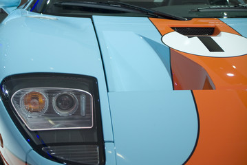 ford gt40 in gulf blue and orange