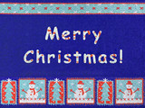 merry christmas, snowman and snowflakes poster