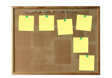 cork board with empty post-its poster