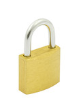 padlock on pure white background poster