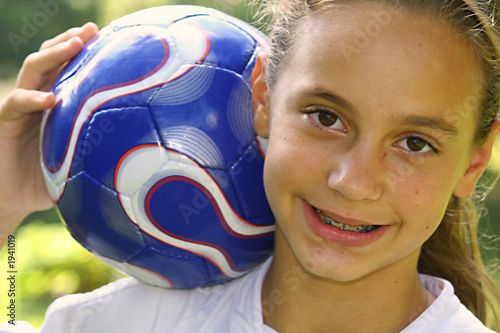 soccer ball girl