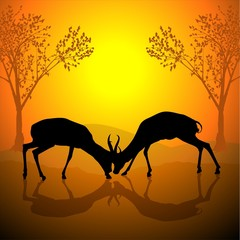 antelope silhouette a