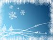 neige bleu