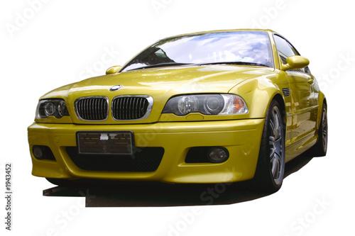 Foto op Canvas Snelle auto s gold sports car