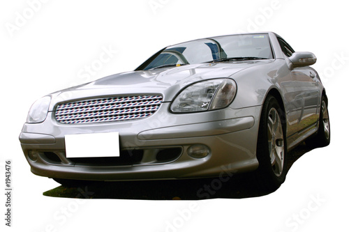 Foto op Canvas Snelle auto s silver sports car